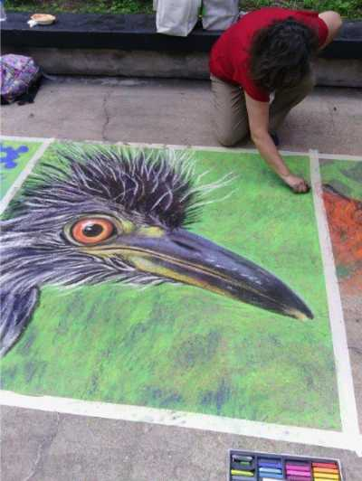 Heron Bird Art Chalk