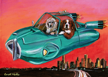 Futuristic Car Dogs