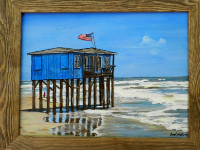 Beach Surfside Texas Painting Carol Wells