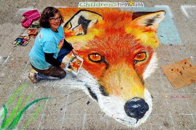 Fox Art Chalk